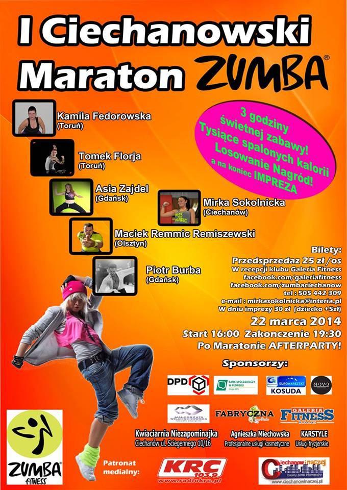 Zumba Fitness, Ciechanowski Maraton Zumba tydzień! - zdjęcie, fotografia