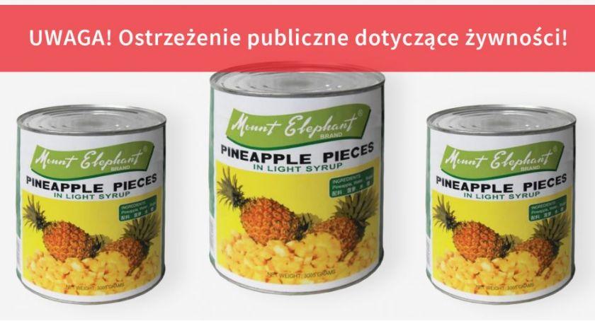 Komunikaty, Kawałki drutu żywności wycofuje produkt sprzedaży - zdjęcie, fotografia