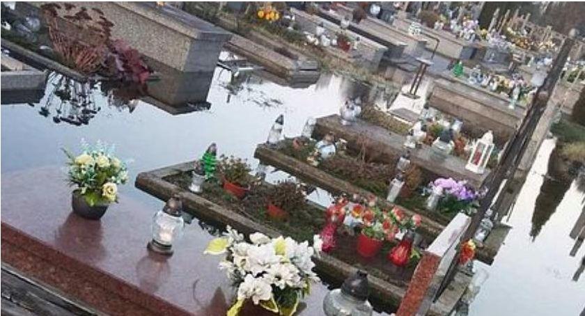 Inwestycje, Kiedy zostanie wykonane odwodnienie cmentarza Ciechanowie - zdjęcie, fotografia