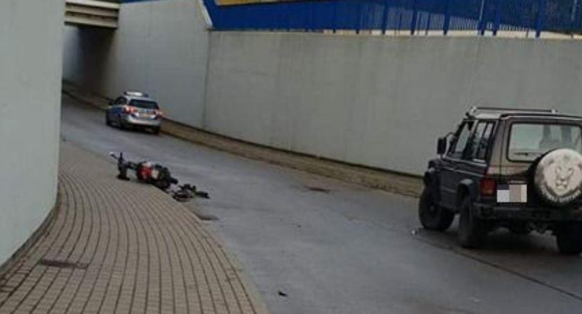 Wypadki drogowe, Motorower uderzył Sońsk Dwóch nastolatków szpitalu - zdjęcie, fotografia