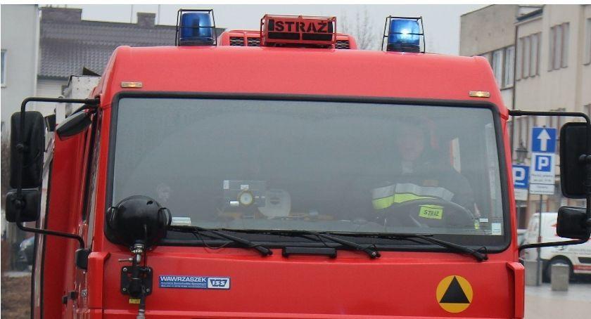 Pożary, Pożar Ciechanowie zapaliło podczas jazdy - zdjęcie, fotografia