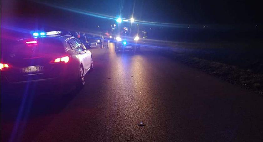 Wypadki drogowe, Piesza ranna wypadku Ciechanowem [zdjęcia] - zdjęcie, fotografia