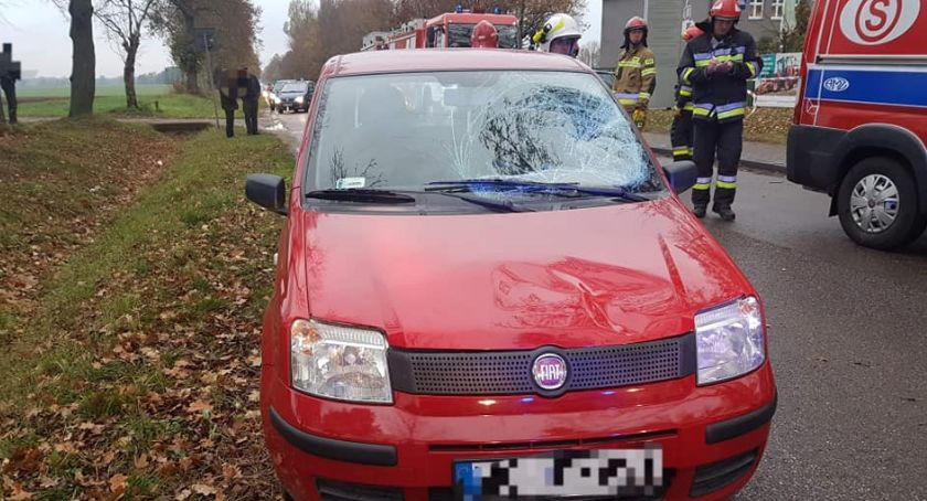 Wypadki drogowe, Wypadek szkole Gołotczyźnie Ranna latka [zdjęcia] - zdjęcie, fotografia