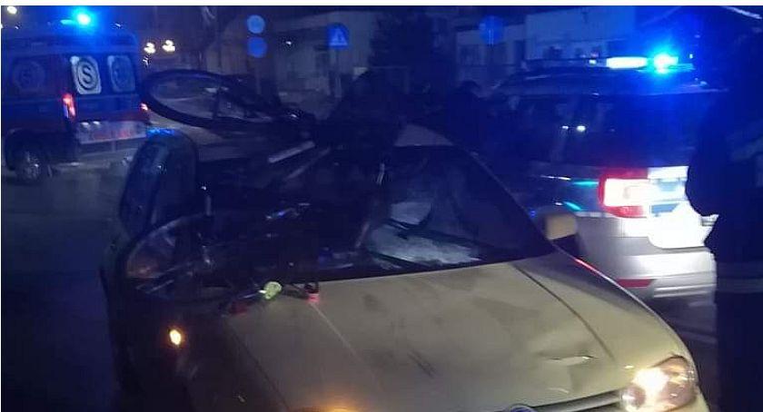 Wypadki drogowe, [AKTUALIZACJA] Groźny wypadek Ciechanowie Znów samym miejscu - zdjęcie, fotografia