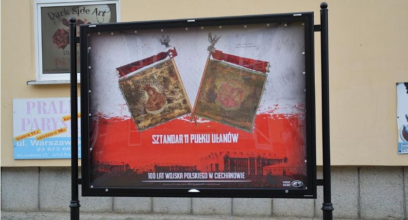"""Wystawy, wystawa deptaku """"100 Wojska Polskiego Ciechanowie"""" - zdjęcie, fotografia"""