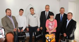 Prezydent wyróżnił sportowców z Ciechanowa (zdjęcia)