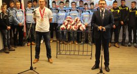 Bohater z Kataru w Ciechanowie! Przemysław Krajewski gościł w ratuszu (zdjęcia)