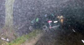 Ford uderzył w drzewo. Jedna osoba ranna