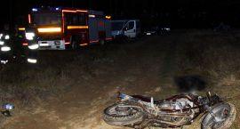 Zginął kolejny motocyklista, jechał drogą gruntową