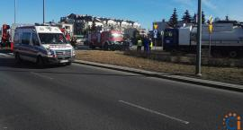 AKTUALIZACJA: Wypadek przy rondzie na ul. Armii Krajowej w Ciechanowie [zdjęcia]