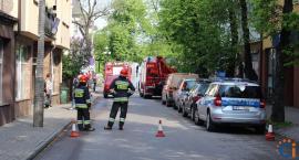 [AKTUALIZACJA] Akcja straży pożarnej na ul. Zielona Ścieżka w Ciechanowie [zdjęcia]