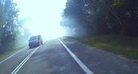 Pożar przy drodze krajowej w gminie Glinojeck