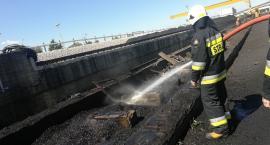 Pożar na terenie cukrowni pod Glinojeckiem [zdjęcia]