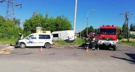 Zderzenie samochodów w Ciechanowie. Znów na tym samym skrzyżowaniu [zdjęcia]