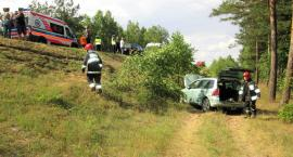 Volkswagen uderzył w Peugeota na krajówce [zdjęcia]