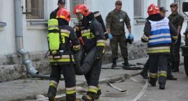 Działania strażaków w siedzibie wojsk Obrony Terytorialnej [zdjęcia]