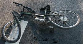 Potrącony pijany rowerzysta