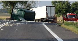 Zderzenie ciężarówek i busa na krajówce