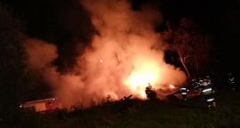 Duży pożar w gminie Opinogóra Górna [zdjęcia]