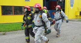 Strażacy w akcji na terenie oczyszczalni ścieków [zdjęcia]