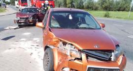 Trzy samochody zderzyły się w Gołyminie [zdjęcia]