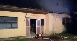 Pożar warsztatu szkolnego u sąsiadów