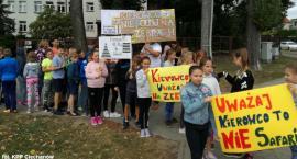 Uczniowie z pow. ciechanowskiego apelowali do kierowców: Nie polujemy na zebrach! [zdjęcia]