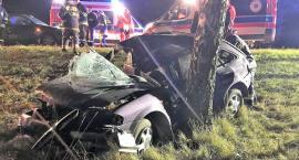 Mazda uderzyła w drzewo. Zginął młody kierowca [zdjęcia]