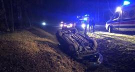 Volvo uderzyło w jelenia na drodze Ciechanów-Glinojeck [zdjęcia]