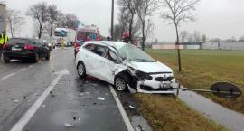 Trzy samochody zderzyły się w Chrzanówku pod Ciechanowem [zdjęcia]