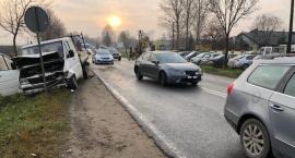 Zderzenie trzech samochodów w Chruszczewie [zdjęcia]