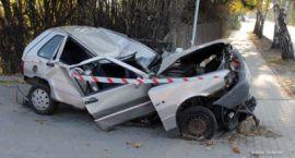 Wypadek Uno na ul.Gostkowskiej - Fotorelacja