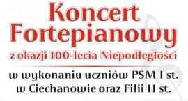W Ciechanowie odbędzie się koncert fortepianowy na 100-lecie niepodległości