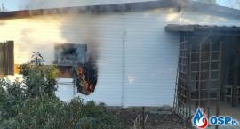 Płonął domek letniskowy [zdjęcia]