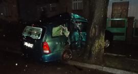 Ford uderzył w drzewo na ul. Orylskiej. Ranne nastoletnie pasażerki [zdjęcia]