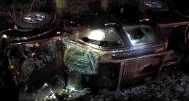 Nissan wpadł do rowu w gm. Ojrzeń [zdjęcia]