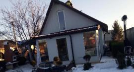 Pożar domku letniskowego w gminie Regimin [zdjęcia]