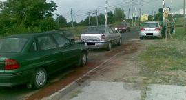 Trzy samochody zderzyły się na Kasprzaka (aktualizacja)