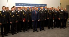 Strażak z Ciechanowa wyróżniony przez ministra MSWiA