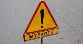 Wypadek na skrzyżowaniu w Ciechanowie. Ranny motorowerzysta