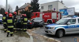 Dwie osoby ranne po wypadku w centrum Ciechanowa [zdjęcia]
