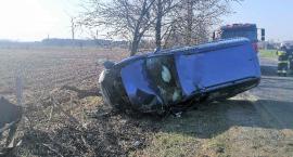 Volkswagen uderzył w przydrożne drzewo [zdjęcia]