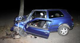 Golf uderzył w drzewo. Młody kierowca zginął na miejscu [zdjęcia]