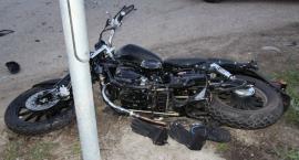 Nastoletnia kierująca nie ustąpiła pierwszeństwa motocykliście [zdjęcia]