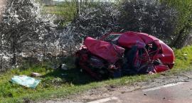 Poranny wypadek na DW. Zginął kierowca osobówki [zdjęcia]