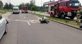 Motocyklista uderzył w Seata na pętli miejskiej. Ma do odbycia karę więzienia [zdjęcia]