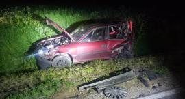 Groźny wypadek w gm. Regimin. Zderzyły się trzy samochody [zdjęcia]