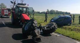 Poranny wypadek w gminie Regimin [zdjęcia]