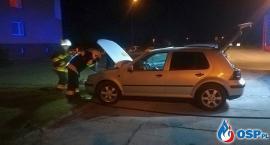 Pożar samochodu osobowego w Glinojecku [zdjęcia]