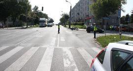 Motocyklista ranny w wypadku w centrum Ciechanowa